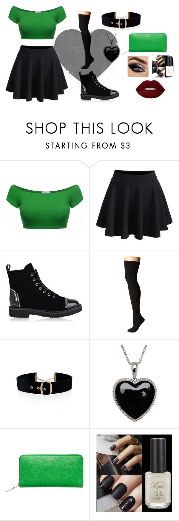 """""""N's Bar Clothes!"""" by nityadreemurr ❤ liked on Polyvore featuring WithChic, Giuseppe Zanotti, Bootights, Lord & Taylor, Smythson and Lime Crime"""
