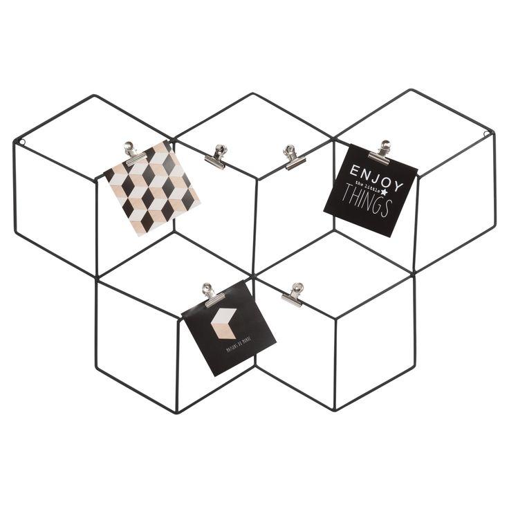Tablero para fotos de metal negro 45 x 67 cm GRAPHIQUE | Maisons du Monde