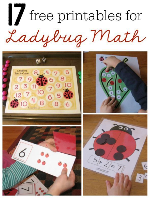 Here is a huge collection of ladybug math ideas for preschool, kindergarten and first grade. You'll find links to 16 FREE printables!
