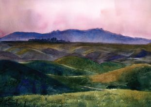 Amazing Landscapes in Watercolor | www.drawing-made-easy.com | #landscape #drawing