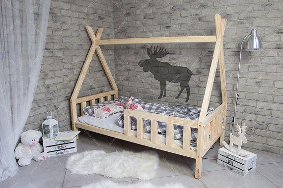 Verbazingwekkend TIPI bed voor kinderen, kinderbedje, kinderbed, kinderbedje FC-01