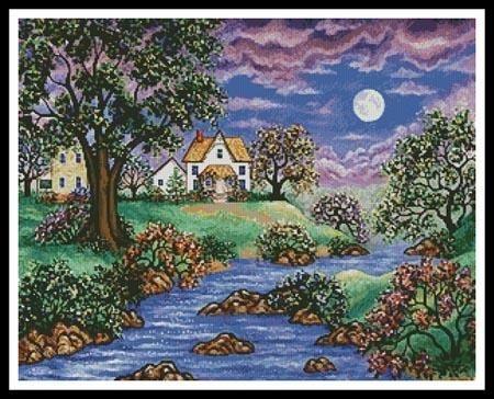 Brookside Cottage - X Squared Cross Stitch