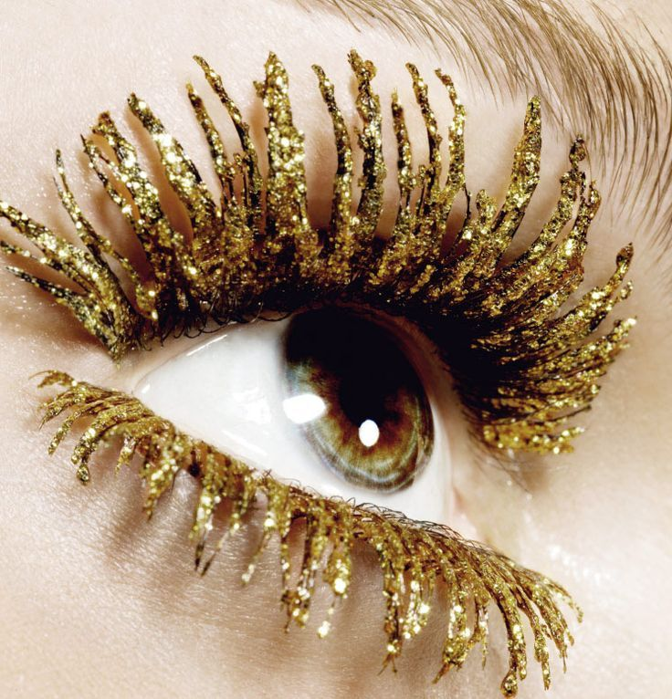Only for tonight, or perhaps a party in New Delhi, are these gold lashes. Festive? Yes. Boardroom bound? No.
