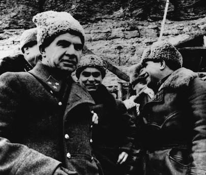 STALINGRAD / SOVIET GENERAL CHUIKOV V. Chuikov (left), the commanding general during the battle of Stalingrad.Photo, December 1942. akg-images