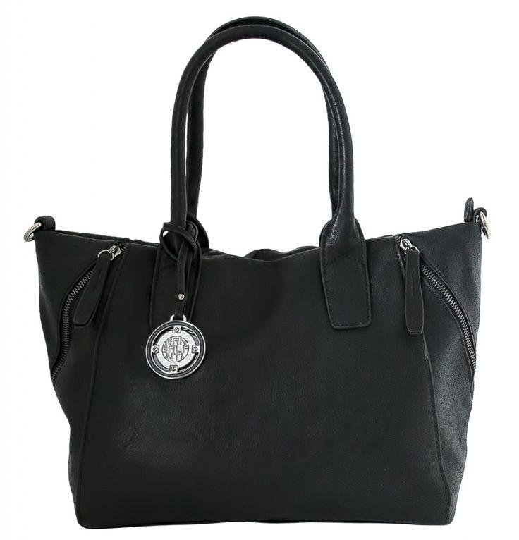Dámská kabelka Marina Galanti, ozdobné zipy - černá barva | obujsi.cz - dámská, pánská, dětská obuv a boty online, kabelky, módní doplňky