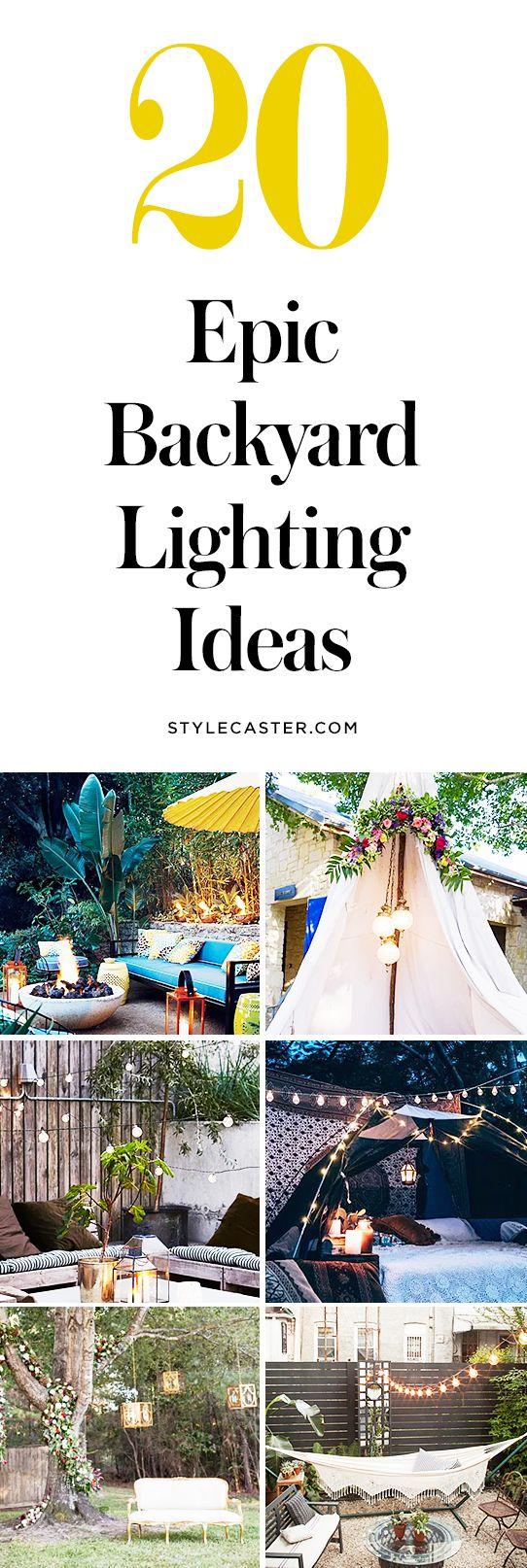 20 Epic Backyard Lighting Ideas to Inspire your Patio Makeover | DIY Summer Outdoor Design Inspiration | @stylecaster