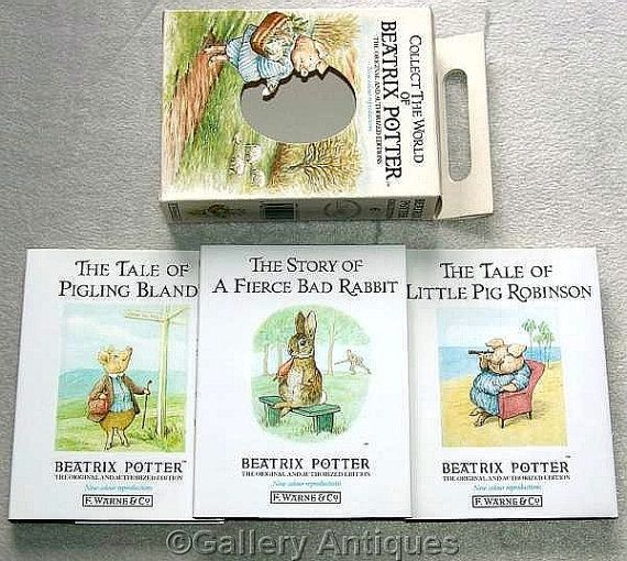 "Beatrix Potter ""Tale of Little Pig Robinson"", ""Tale of a Fierce Bad Rabbit"", ""Tale of Pigling Bland"" Hardback Book Collection No. 6 ref 4031"
