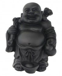 Laughing Buddha with traveling stick
