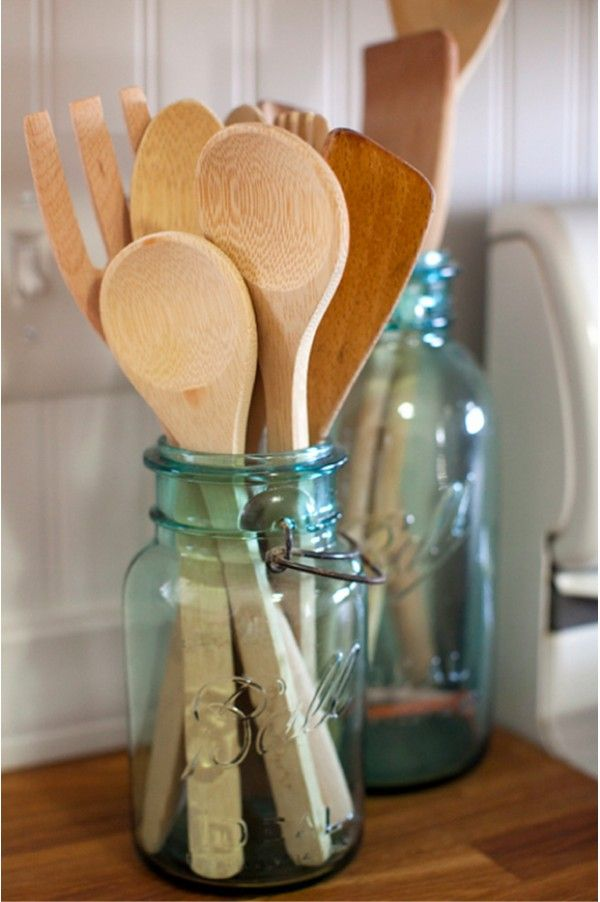I have a ton of these and some of them are just in a closet...mason jar - decor - vintage