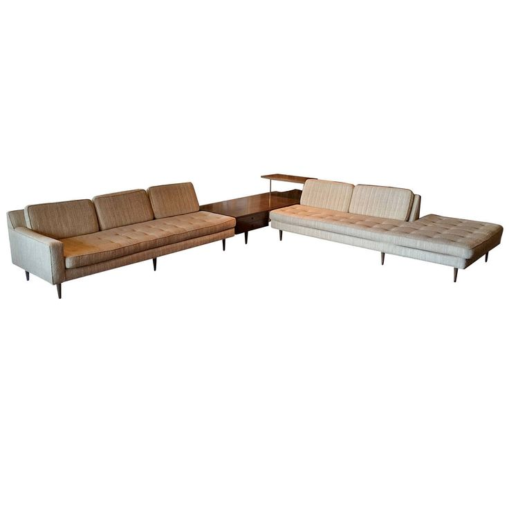 Freestanding Harvey Probber Sectional with Table and Console   From a unique collection of antique and modern sectional sofas at https://www.1stdibs.com/furniture/seating/sectional-sofas/