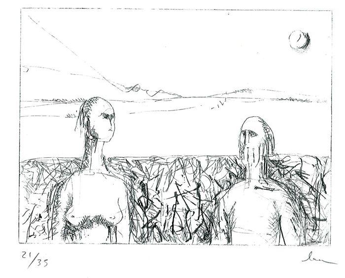 #Litografia - Dona i home #Lithography - Woman and man