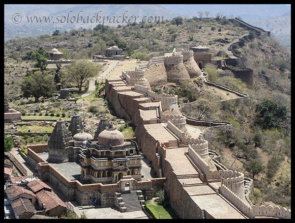 Upper View of the Great Wall of India, Kumbhalgarh Fort, Rajasthan