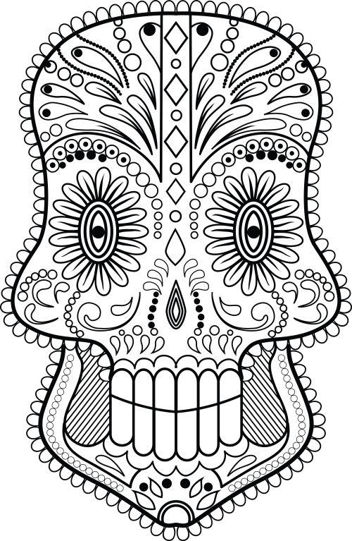 59 best Free Sugar Skull Coloring Pages images on Pinterest Sugar - copy dia de los muertos mask coloring pages