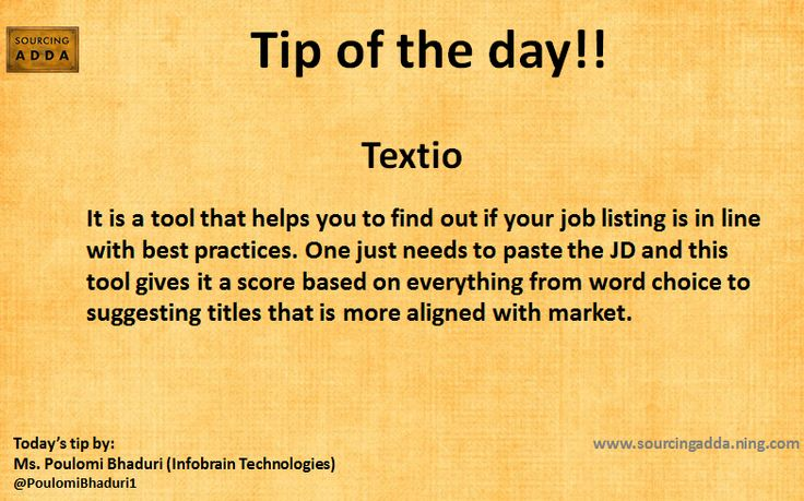#Sourcingtip Thanks Poulomi Bhaduri for a great #Sourcingtip #Recruiters #Sourcing #TalentAcquisition
