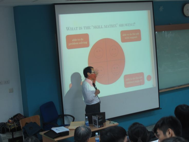 "Professor Jongwon Woo from Saitama University presented about  ""How does the Japanese-Style human resource management improve corporate performance?"""