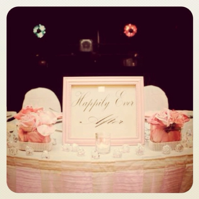 Our wedding sweet heart table. All the tables had different fairy tale names.