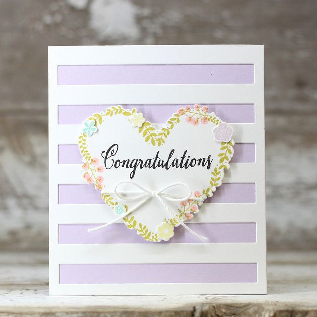 Congratulations Card by Laurie Willison for Papertrey Ink (December 2016)