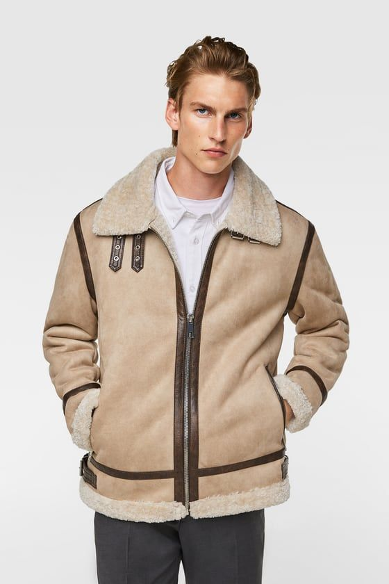 b99f05fd AVIATOR JACKET - Item available in more colors Zara Man Jacket, Faux Fur  Jacket,