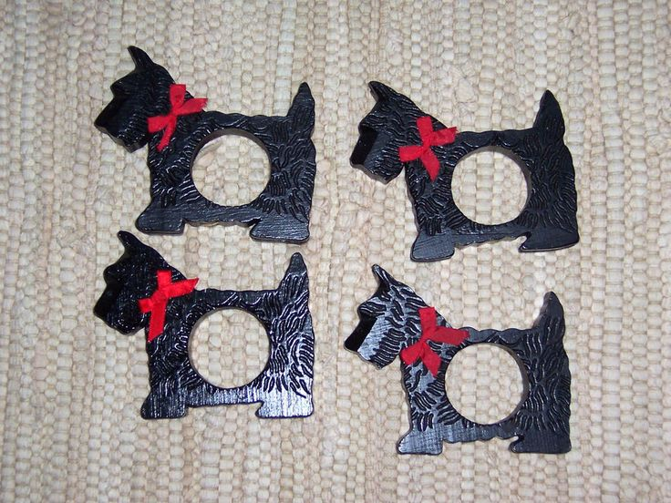 Scottie Scotty Dog Napkin Rings (4)