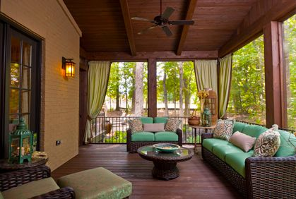Screened In Porch Patio Deck Outdoor Living Area Pictures Plans and DIY Design Ideas