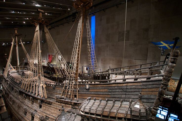 The Vasa, an overpowered Swedish war galleon that sunk on its maiden voyage just outside the harbor in 1628. It was salvaged in 1961 and now is a fixed museum ship in Stockholm.