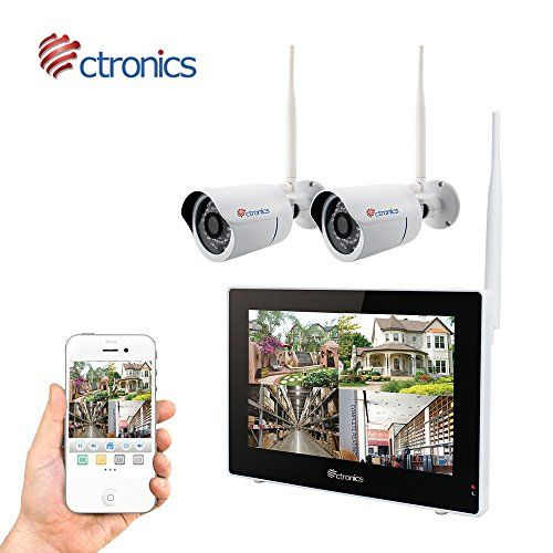 """(TOUCH SCREEN)Ctronics Wireless Camera System 2.4G Wireless Surveillance System WIFI Cameras System 9"""" Touch Screen Monitor 2720P WIFI IP Camera for Home Surveillance (2CH KIT) -- Want to know more, click on the image."""