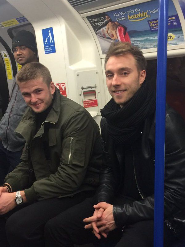 Tottenhams Christian Eriksen and Eric Dier spotted on the Tube [Pictures]