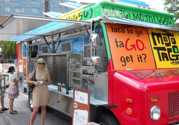 Mojo TaGo - delicious street food tacos! Delicious chipotle sauce. If you are hungry, and you can find them, Mojo Tago is a perfect downtown lunch - Find out where they are on their facebook page