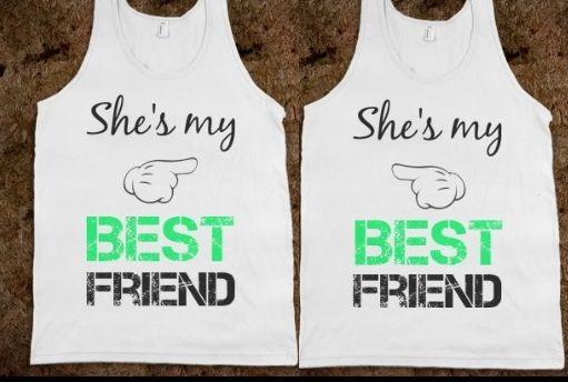 Best friend matching shirts. Love.