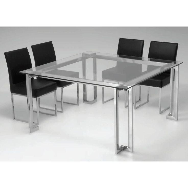 Base de mesa de jantar em aço inox