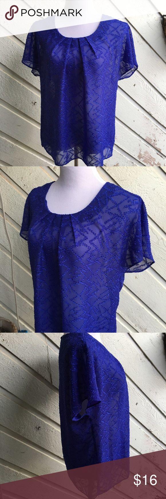 Cobalt Blue Top | Ann Taylor LOFT Ann Taylor LOFT. A beautiful cobalt blue top. Soft & flowy. EUC Excellent Used Condition. Ann Taylor Tops Blouses