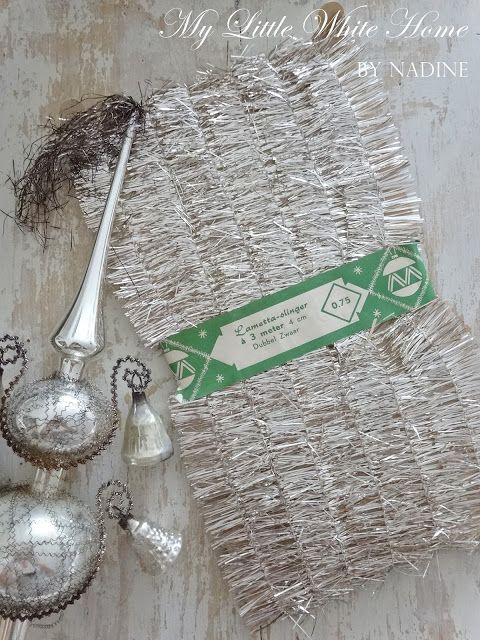 Old tinsel.. <3   My little white home by Nadine: Advent wreath 2015
