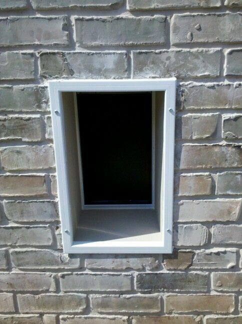 Doggy door through brick wall stuff we built pinterest brick walls bricks and doggies - Cat door for hollow core door ...