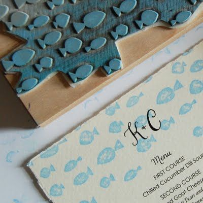 Invitations - rubber stamps
