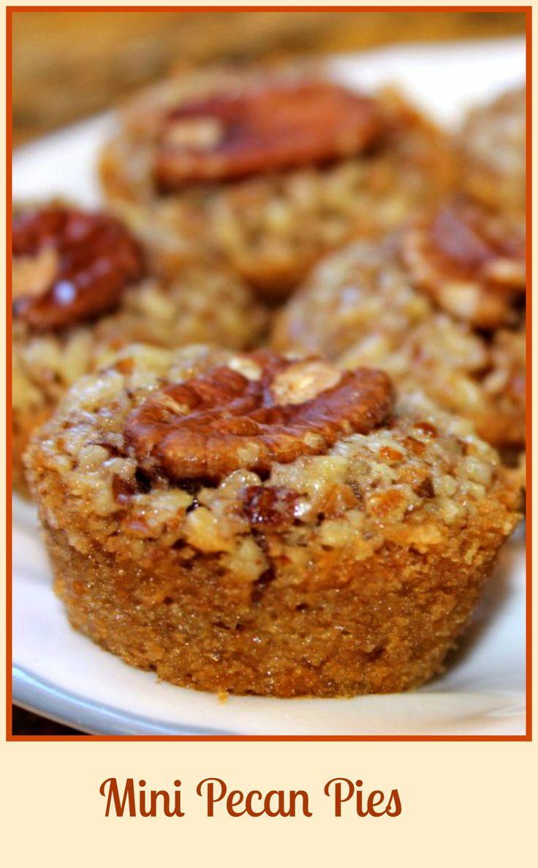Crystal's Mini Pecan Pies – Skinny Sweets Daily