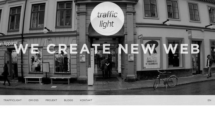 Parallax, built on Wordpress. http://www.trafficlight.se