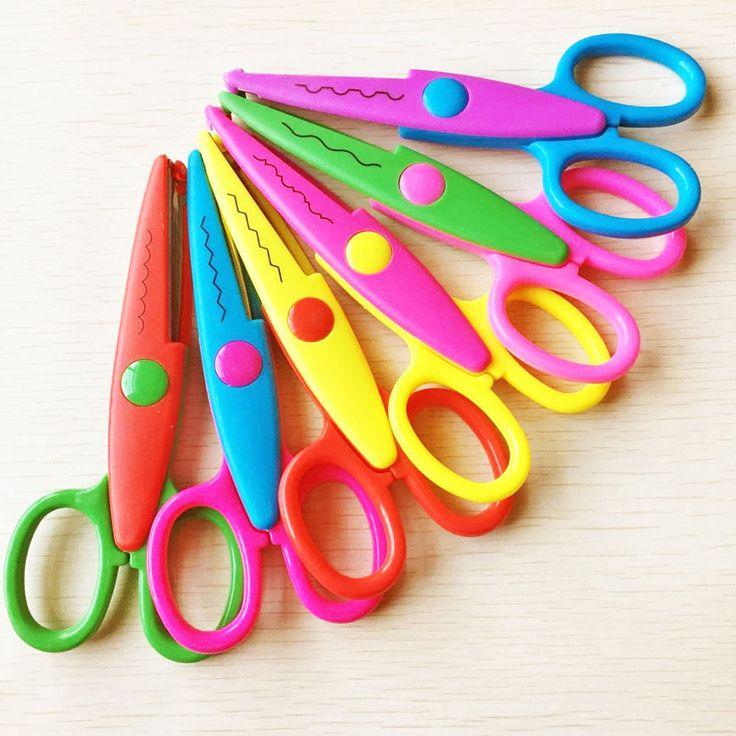 1pcs Hand Diy Photo Album Lace Scissors Photo Card Pattern Scissors Tools Diary Decoration Kawaii Safety Scissors 6 Style