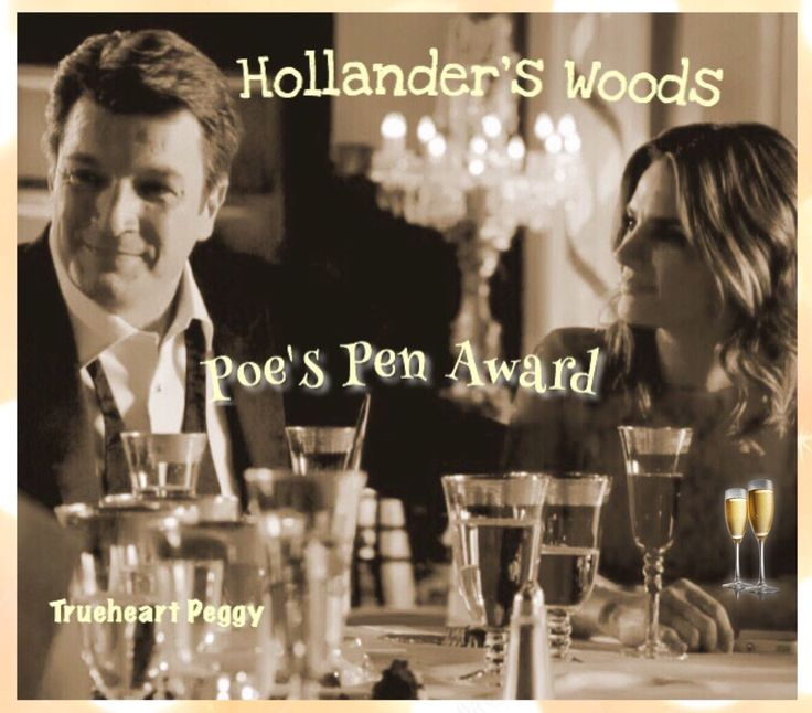 Rick and Kate relax and enjoy Rick's Poe's Pen Achievement Award, gala celebration~ in Hollander's Woods.