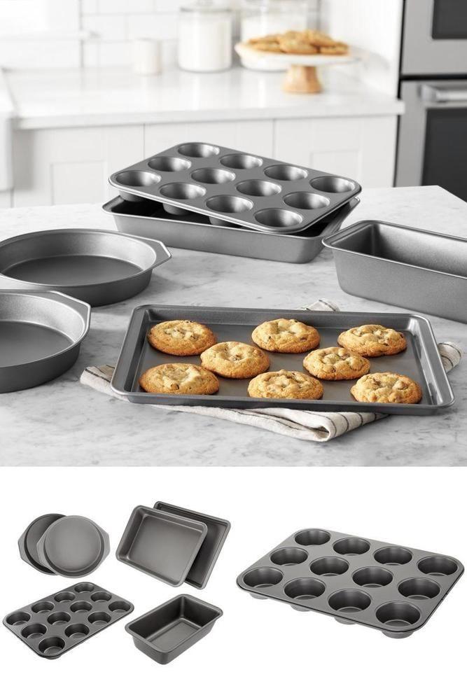 Icymi Carbon Steel Nonstick Bakeware Set Of 6 Cake Muffin Roast