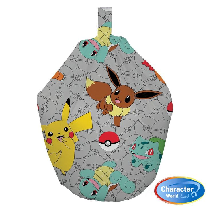 This childrens bean bag is an officialy licenced Pokemon 'Gotta Catch Em All' bean bag.  The bean bag features the awesome Pikachu, along with other Pokemon favourites, including Eevee, Charmander and Squirtle.  This Pokemon Bean Bag Fast & Free Shipping Within The UK!!