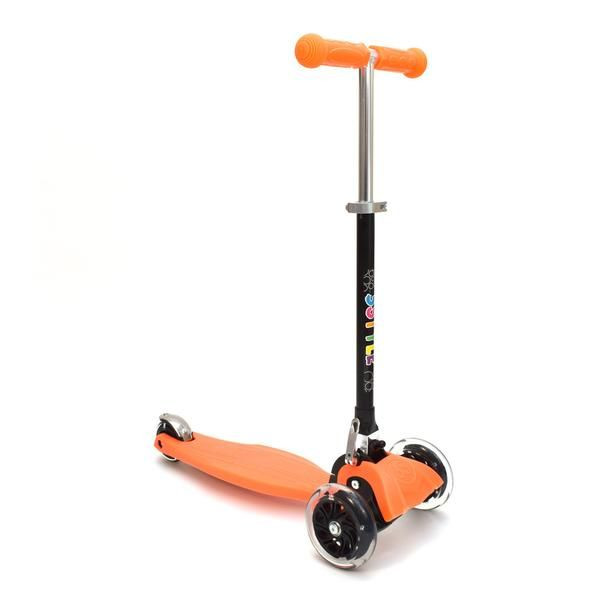RGS-1 3 Wheel Orange Kick Scooter with LED Lights in Wheels | 3Style Scooters
