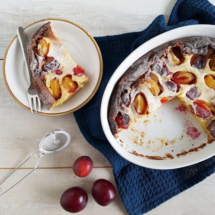 Pruimen clafoutis met vanille - wat een indrukwekkend dessert hè? En juist heel makkelijk te maken!