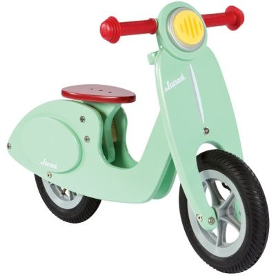 Almost as cool as a the mint green Vespa of my day dreams I Wooden Toys Educational Toy Childrens Toys Children's Toy Shop - Janod Mint Wooden Scooter #kidsgift #indooractivity