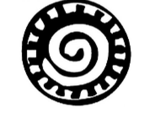 West African Adinkra symbol | Owia Kokroko - Greatness of the sun: Symbolizes vitality and renewal.