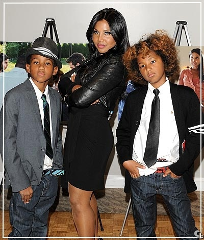 Toni Braxton and her boys Denim and Diezel.........Too adorable
