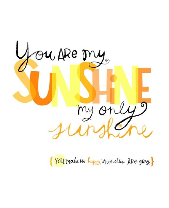 You Are My Sunshine Wall Art Print by elissahudson on Etsy, $22.00