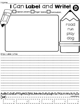 i can label and write early writing activities activities teacher pay teachers and the o 39 jays. Black Bedroom Furniture Sets. Home Design Ideas