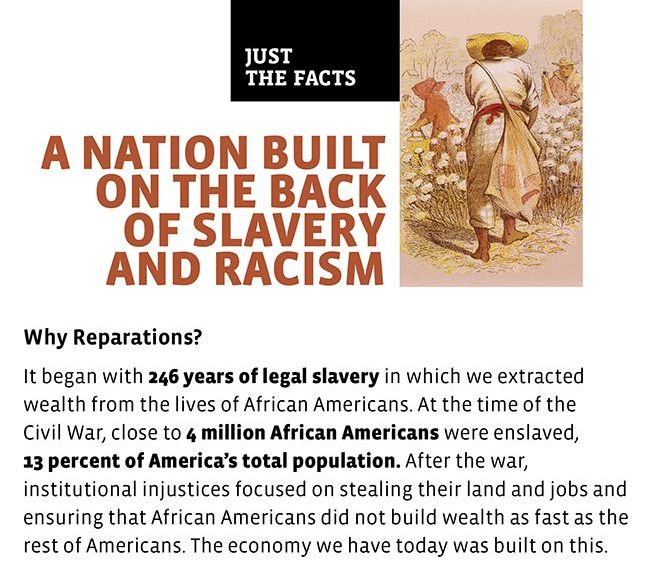 african american reparations essay Stories of african and african american slaves according to the mas- ter  narratives of american history throughout this essay, i aim to expose the  metanarrative.