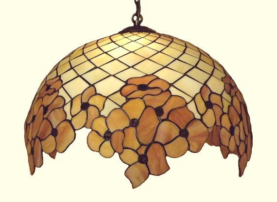 "20.5"" Tiffany Style Hanging Lamp. Hand crafted stained glass ceiling lamp. Stained glass hanging lampshade. https://www.etsy.com/shop/AmberGlassArt http://niebanalne-prezenty.pl"