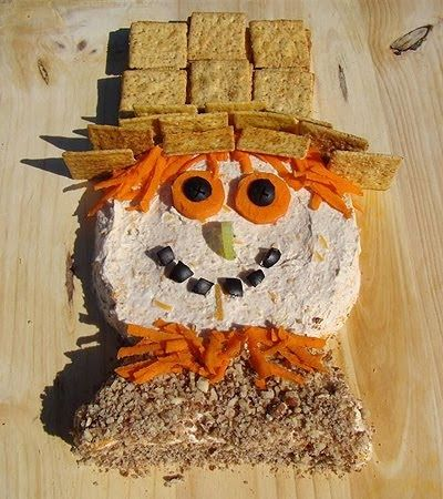 I created this scarecrow cheese ball for FamilyCorner.com. As their kids' recipe creator, I've had so much fun cooking up fun, whimsy foods ...
